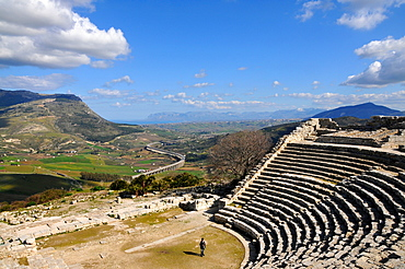 Excavations over Segesta, Trapani, Sicily, Italy