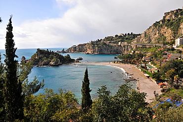 Isola Bella under Taormina, Sicily, Italy, Taormina, eastcoast, Sicily, Italy