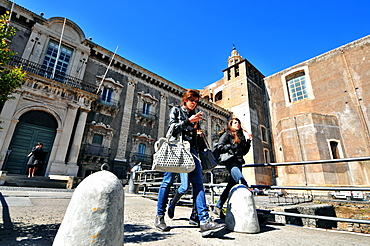 At the University San Nicolo, Catania, eastcoast, Sicily, Italy