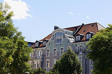 Art Deco residential house designed by Martin Duelfer in Gedeonstrasse, Schwabing, Munich, Upper Bavaria, Bavaria, Germany, Europe
