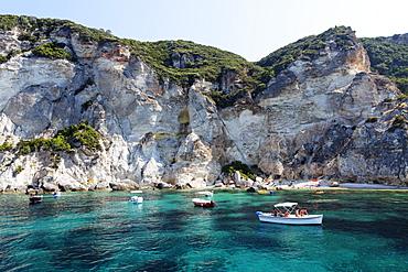 Cala Felci beach, Island of Ponza, Pontine Islands, Lazio, Italy, Europe