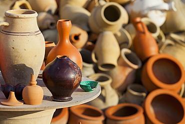 Clay pots, Kappadokien, Turkey, Anatolia, Cappadocia, Turkey