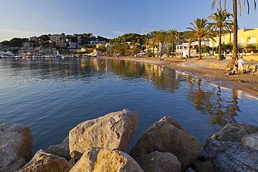 Platja des Traves, Port de Soller, Soller, Majorca, Spain