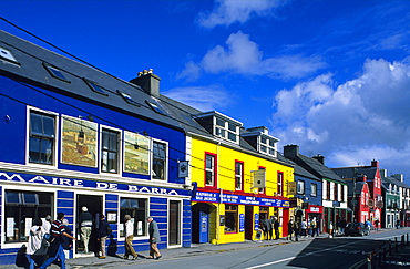 Colourful painted houses in Dingle, County Kerry, Ireland, Europe