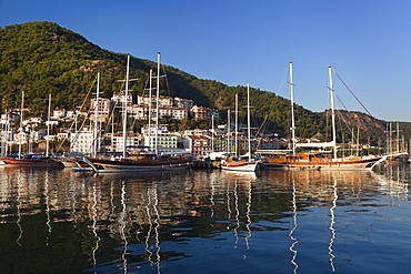 Fethiye harbour, lycian coast, Mediterranean Sea, Turkey