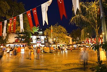 Kas at night, nightlife, lycian coast, Lycia, Mediterranean Sea, Turkey, Asia