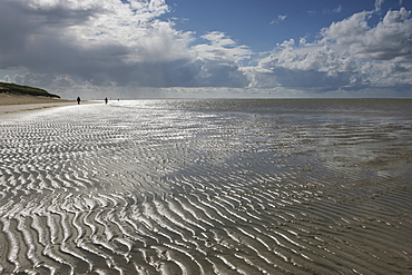Sand ripples on the beach, Spiekeroog Island, Lower Saxon Wadden Sea National Park, Lower Saxony, Deutschland