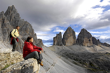 Paternkofel, Three Peaks, Sexten Dolomites, Puster valley, UNESCO World Nature Site, Dolomites, South Tyrol, Trentino-Alto Adige, Italy