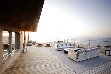 Suite terrace at sunset, Hotel La RÈserve Ramatuelle, Chemin de la Quessine, Ramatuelle, France