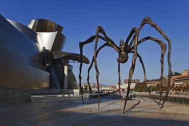 Sculpture Mama spider in front of the Guggenheim Museum of modern and contemporary art, Bilbao, Province of Biskaia, Basque Country, Euskadi, Northern Spain, Spain, Europe