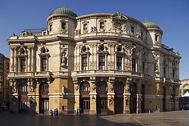 Teatro Arriaga theatre in the sunlight, Plaza de Arriaga, Bilbao, Province of Biskaia, Basque Country, Euskadi, Northern Spain, Spain, Europe
