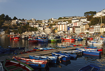 Luarca, seaside town, fishing boats, fishing port, Camino de la Costa, Camino del Norte, coastal route, Way of Saint James, Camino de Santiago, pilgrims way, province of Asturias, Principality of Asturias, Northern Spain, Spain, Europe