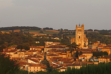 town view with Cathedral Sainte-Pierre, cathedral, gothic, Condom, Condom-en-Armanac, Department Gers, Region Midi-Pyrenees, Via Podiensis, Camino de Santiago, St. James Way, France, Europe
