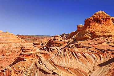 Red sandstone cones in the sunlight, Coyote Buttes, Paria Canyon, Vermilion Cliffs National Monument, Arizona, Southwest, USA, America