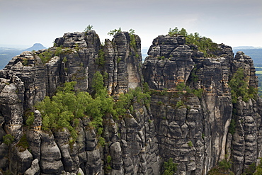 Hoher Torstein Rock, Schrammsteine Rocks, National Park Saxon Switzerland, Elbe Sandstone Mountains, Saxony, Germany, Europe