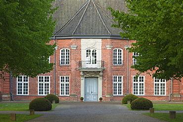 Princes house at the castle, Ploen, nature park Holsteinische Schweiz, Baltic Sea, Schleswig-Holstein, Germany, Europe