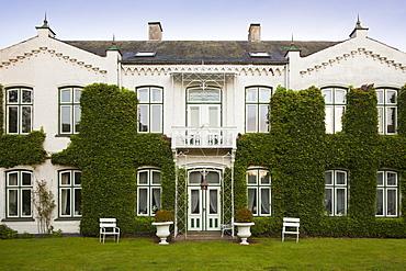 Facade with ivy, Gluecksburg, Flensburg fjord, Baltic Sea, Schleswig-Holstein, Germany, Europe