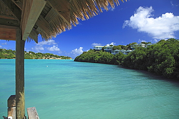 View of a bay at The Veranda Resort, Antigua, West Indies, Caribbean, Central America, America