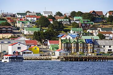 Port Stanley, captial of the Falklands, East Falkland, Falkland Islands, Malwinas, British Overseas Territory, South America, South Atlantic Ocean