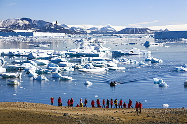Tourists on Devil Island, Antarctic Sound, Weddell Sea, Southern Ocean, Antarcica