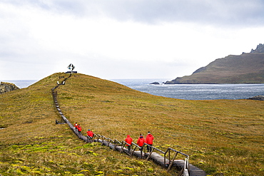 Memorial for castaways at Cape Horn, Cape Horn National Park, Cape Horn Island, Tierra del Fuego, Patagonia, Chile, South America