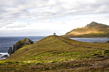 Memorial for castaways at Cape Horn, Cape Horn National Park, Cape Horn Island, Terra del Fuego, Patagonia, Chile, South America