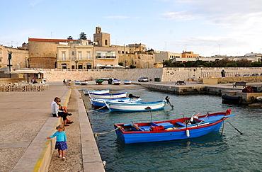 At the old harbour, Otranto in Salento, Apulia, Italy
