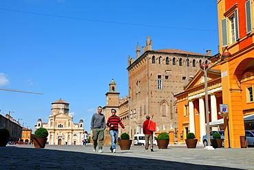 Piazza dei Martiri and Palazzo dei Pio, town hall, in Carpi, Emilia-Romagna, Italy