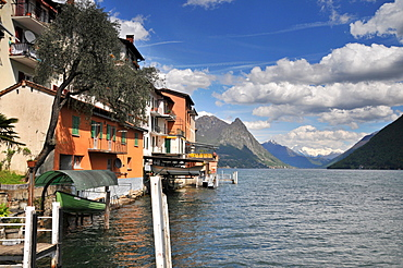 Gandria at lake Lugano (north bank), Ticino, Switzerland