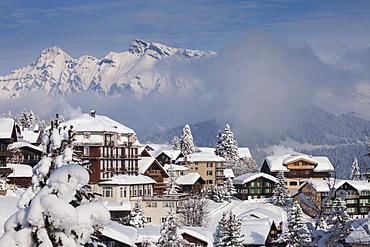 Deep Winter at Muerren, Muerren-Schilthorn skiing area, Lauterbrunnental, Jungfrauregion, Bernese Oberland, Canton Bern, Switzerland, Europe