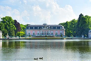 View of Benrath Castle, Dusseldorf, Northrhine-Westfalia, Germany, Europe