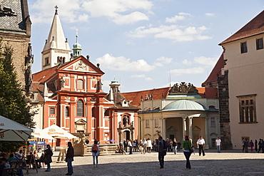 St George's convent with basilica, castle hill, Prague, Czech Republic