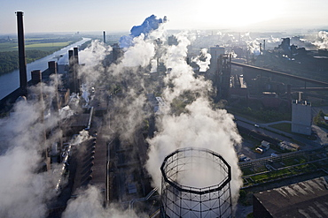 Aerial view of Salzgitter Steelworks, Lower Saxony, Germany