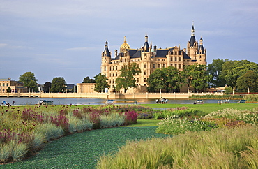 Schwerin castle and garden, Schwerin, Mecklenburg Western Pomerania, Germany, Europe