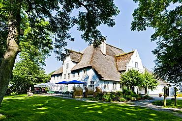 Restaurant Roter Haubarg in Witzwort, Husum, Northern Frisia, Schleswig-Holstein, Germany