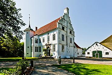 Manor house Hoyerswort, Oldenswort, Northern Frisia, Schleswig Holstein, Germany