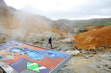 Thermal area Seltunn at lake Kleifarvatn, Reykjanes peninsula, Iceland, Europe