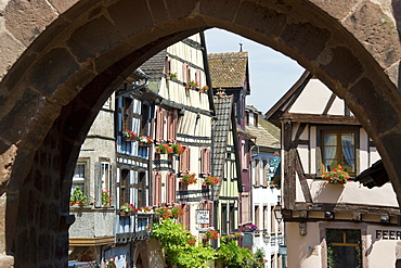 Half-timbered houses, Riquewihr, Alsace, France