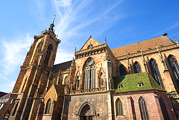 St Martin's church in the sunlight, Colmar, Alsace, France, Europe