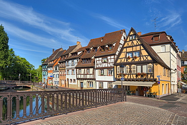Bridge above the Lauch river, Little Venice, Colmar, Alsace, France, Europe