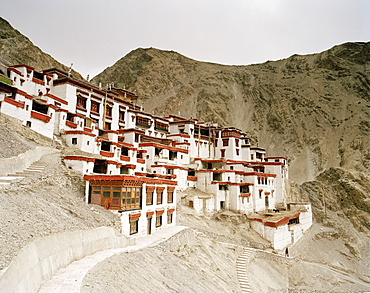 Old going concern convent Rizong, founded in 1833, situated 3450m above sea level, 76 km west of Leh, Ladakh, Jammu and Kashmir, India