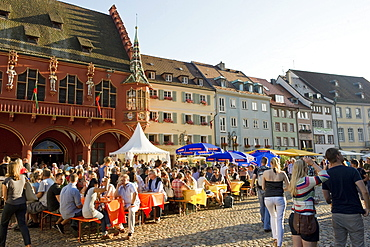 People at the wine festival, July 2012, Freiburg im Breisgau, Black Forest, Baden-Wuerttemberg, Germany, Europe