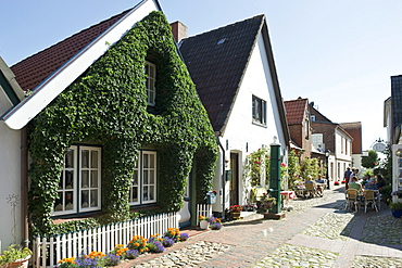 Captain's houses, Wyk, Foehr, North Frisian Islands, Schleswig-Holstein, Germany, Europe