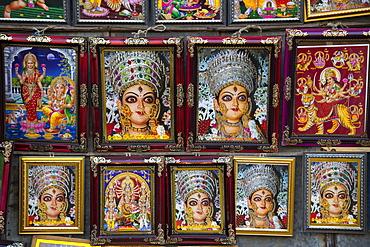 Religious memorabilia for sale, Munger, Monghyr, Bihar, India