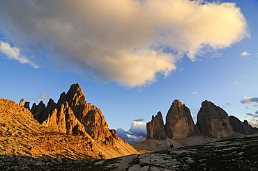 Drei Zinnen in the background, Hochpustertal, Dolomites, South Tyrol, Italy