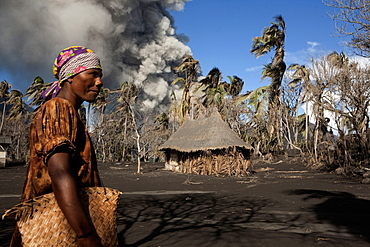 Daily life on Matupit island, Tavurvur Volcano, Rabaul, East New Britain, Papua New Guinea, Melanesia- Pacific
