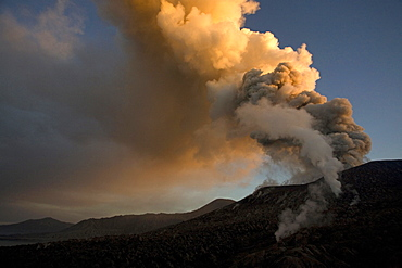 Tavurvur Volcano at daytime, Rabaul, East New Britain, Papua New Guinea, Pacific