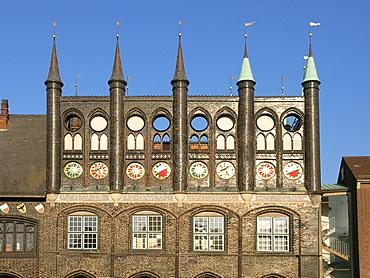 Town Hall, Hanseatic City of Luebeck, Schleswig Holstein, Deutschland