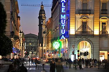 Via Roma from Piazza Castello, Turin, Piedmont, Italy
