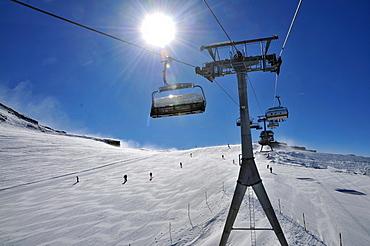At the Theodul glacier, Zermatt ski resort, Valais, Switzerland